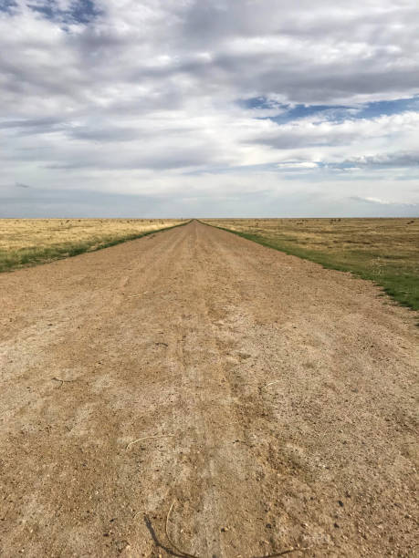 Country Dirt Road horizon stock photo
