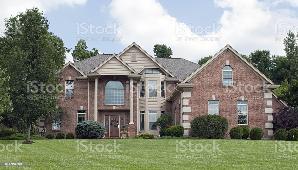 Country Estate Brick House stock photo