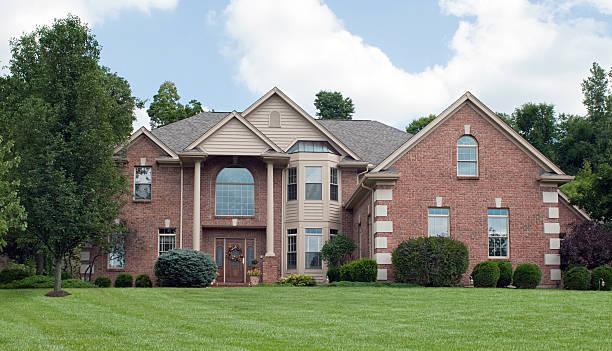 Country Estate Brick House stock photo