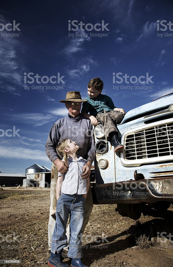 Country Family royalty-free stock photo