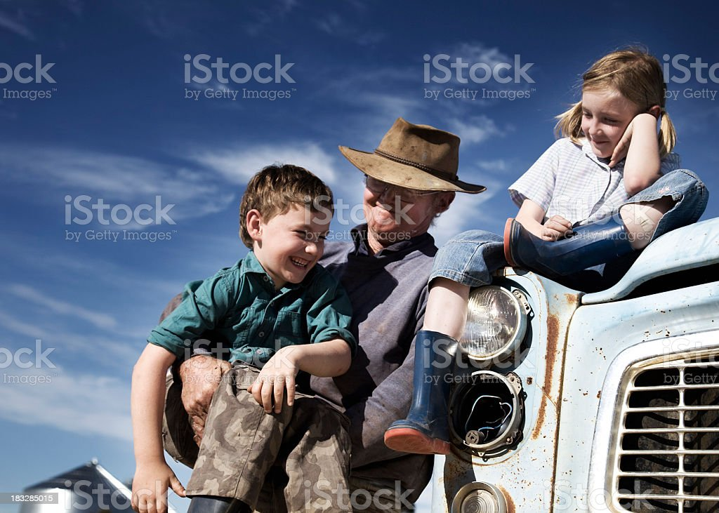 Country Family stock photo