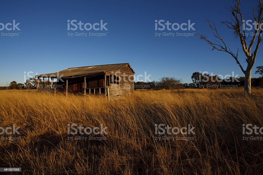 Country farm house stock photo