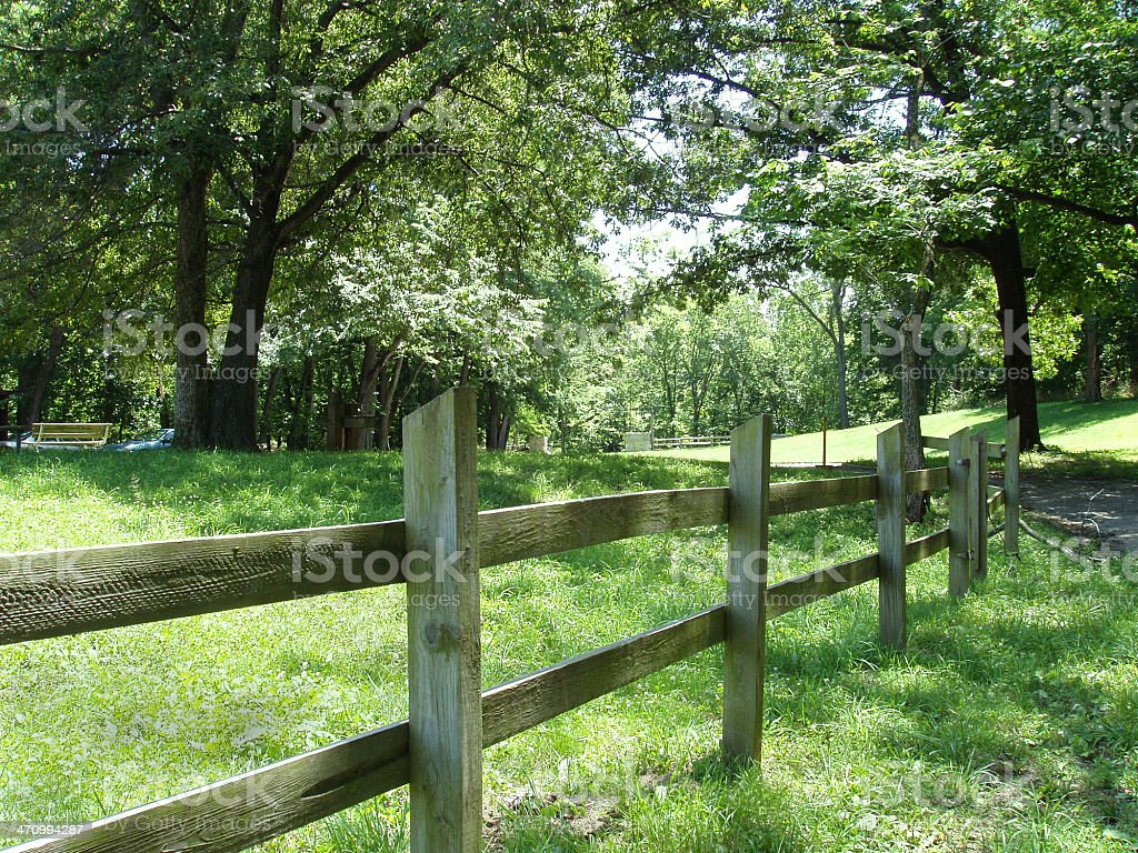 Country Fence royalty-free stock photo