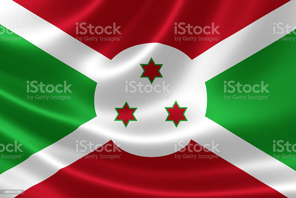 Country Flag of the Republic of Burundi stock photo