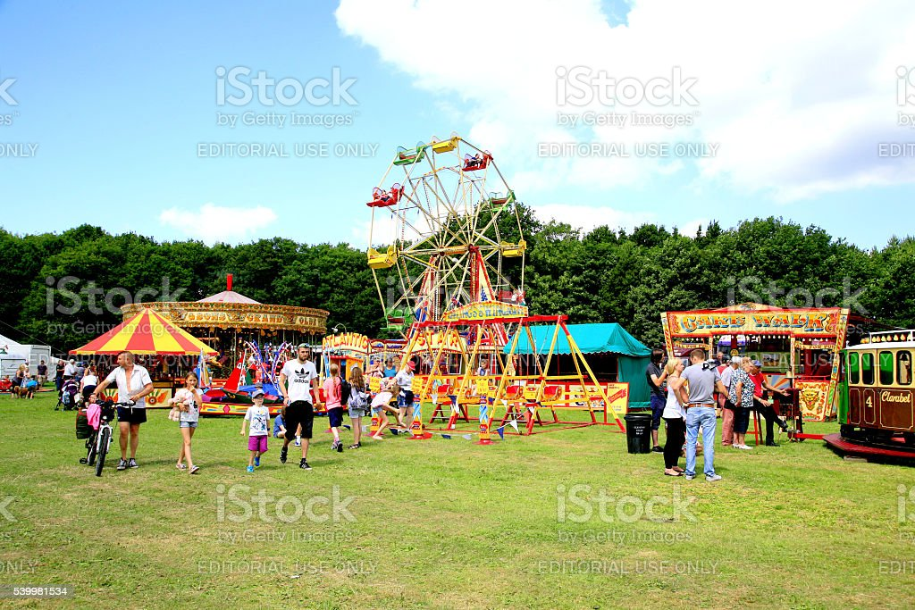 Country funfair. stock photo