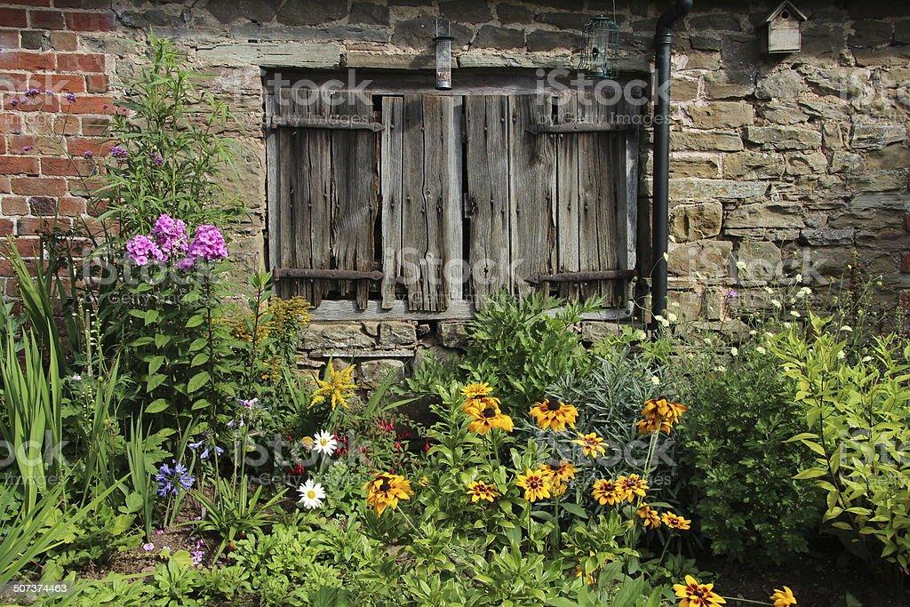 Country garden stock photo