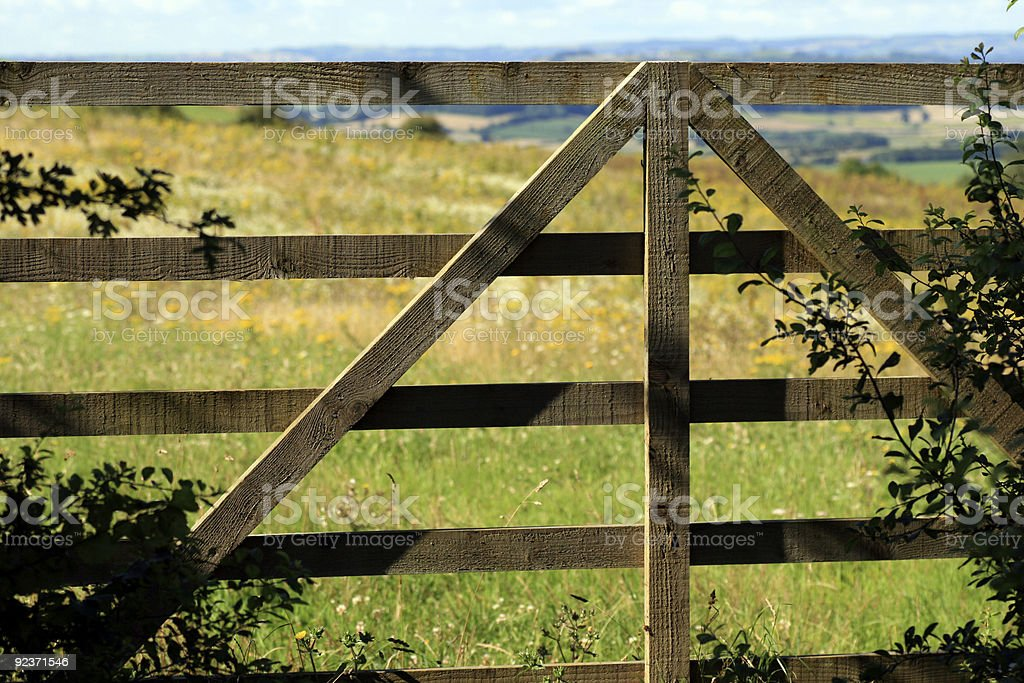 Country Gate royalty-free stock photo