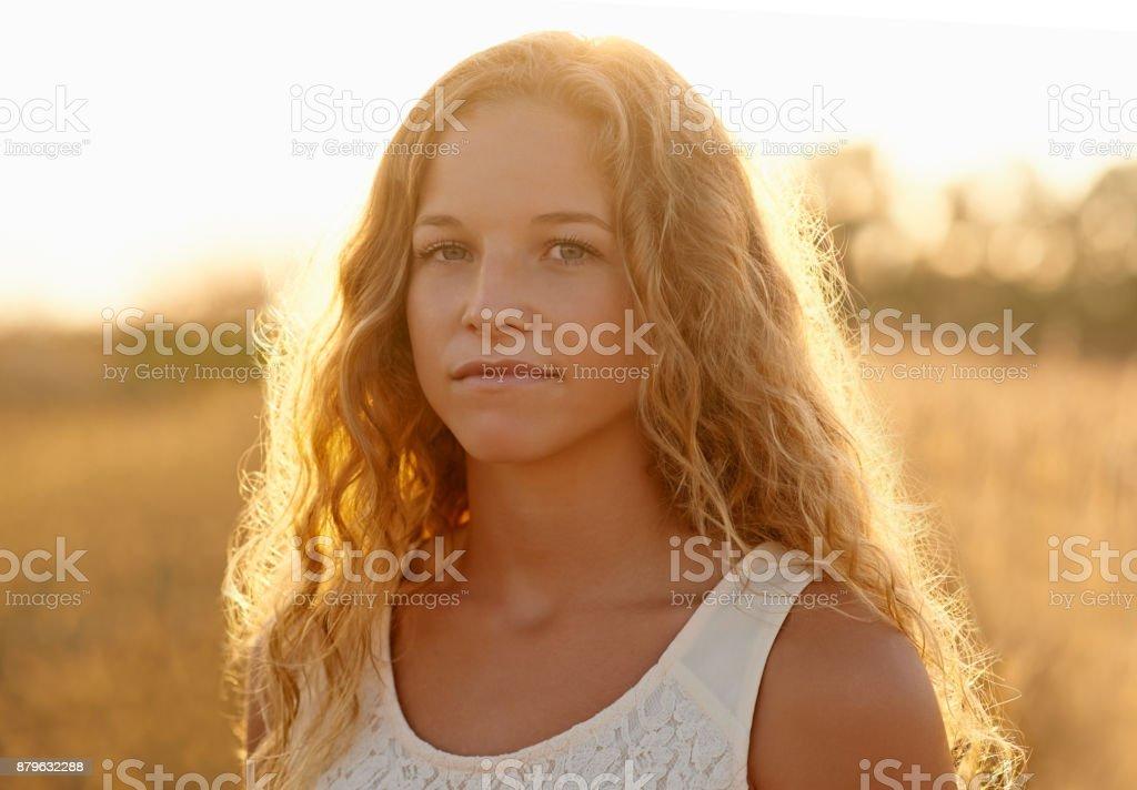 Country girl cutey stock photo