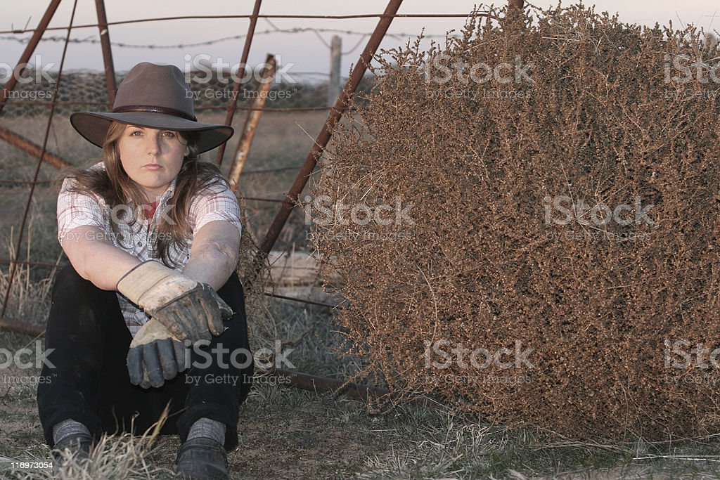 Country Girl royalty-free stock photo