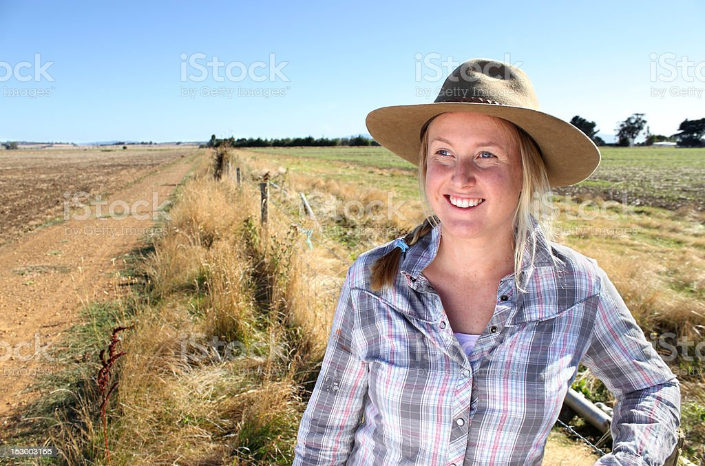 Country Girl stock photo