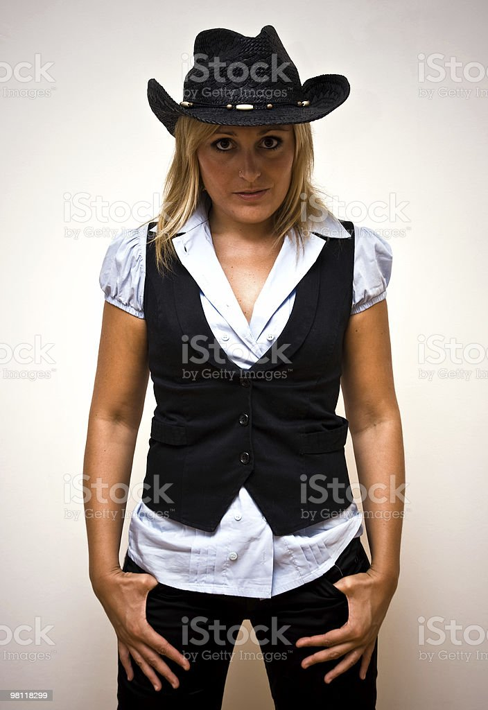 Country girl portrait royalty-free stock photo