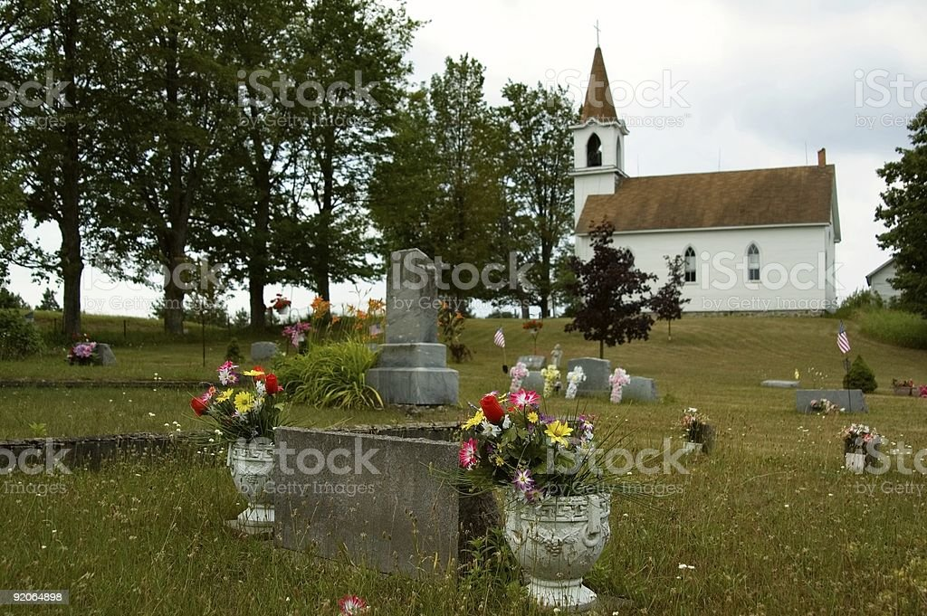 Country Graveyard stock photo