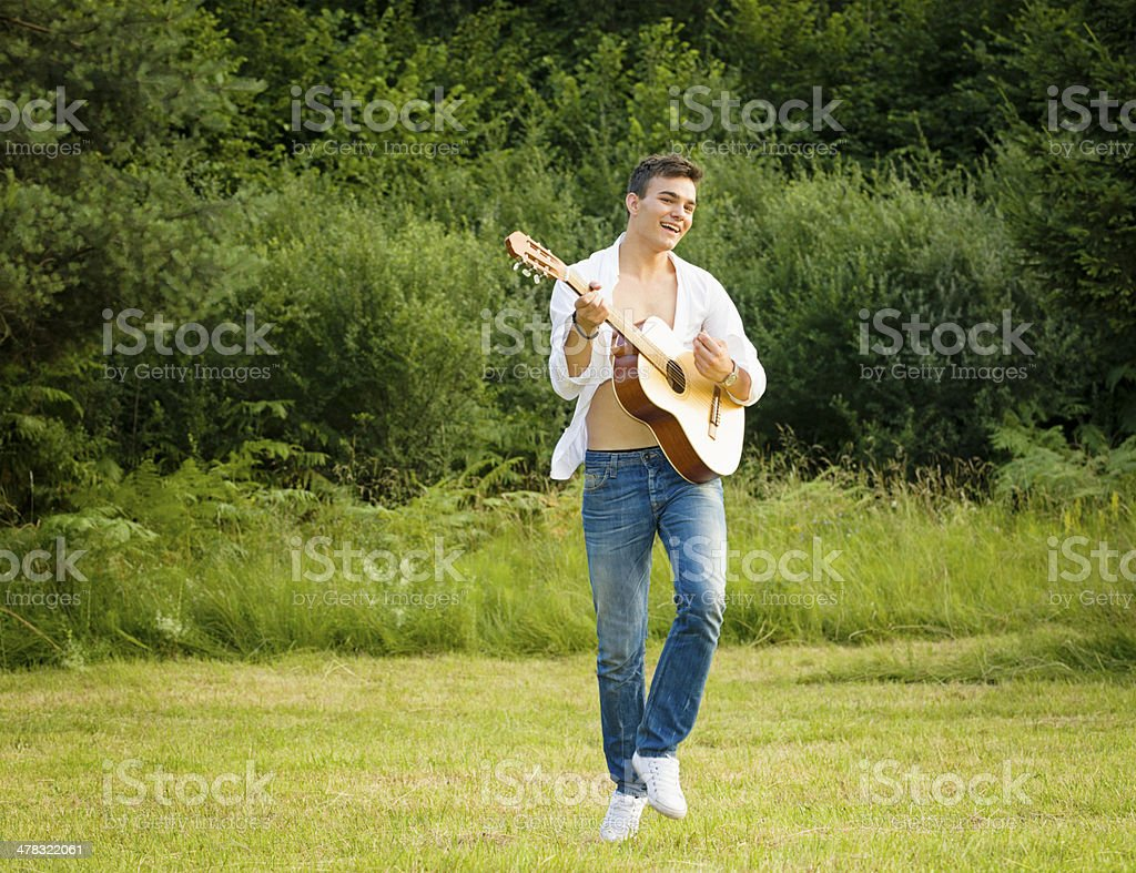 Country Guitar Player royalty-free stock photo