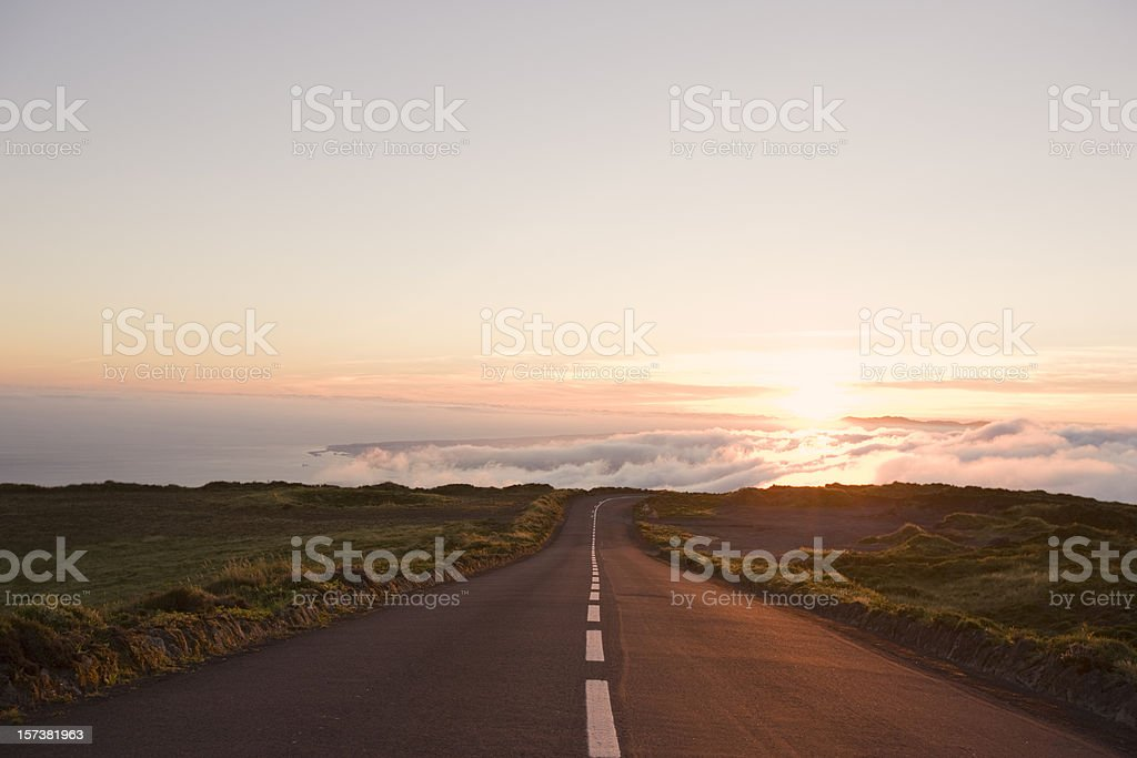Country Highway to Heaven stock photo