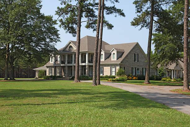 Country Home in S Carolina stock photo