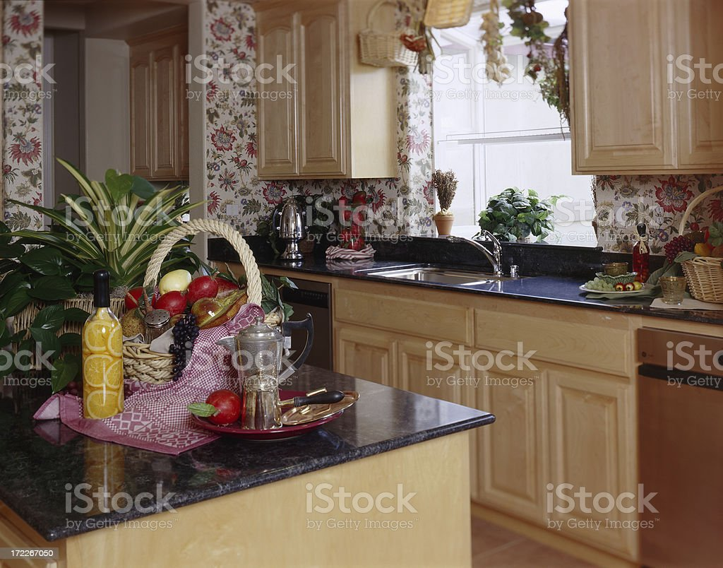 Country Home Kitchen royalty-free stock photo