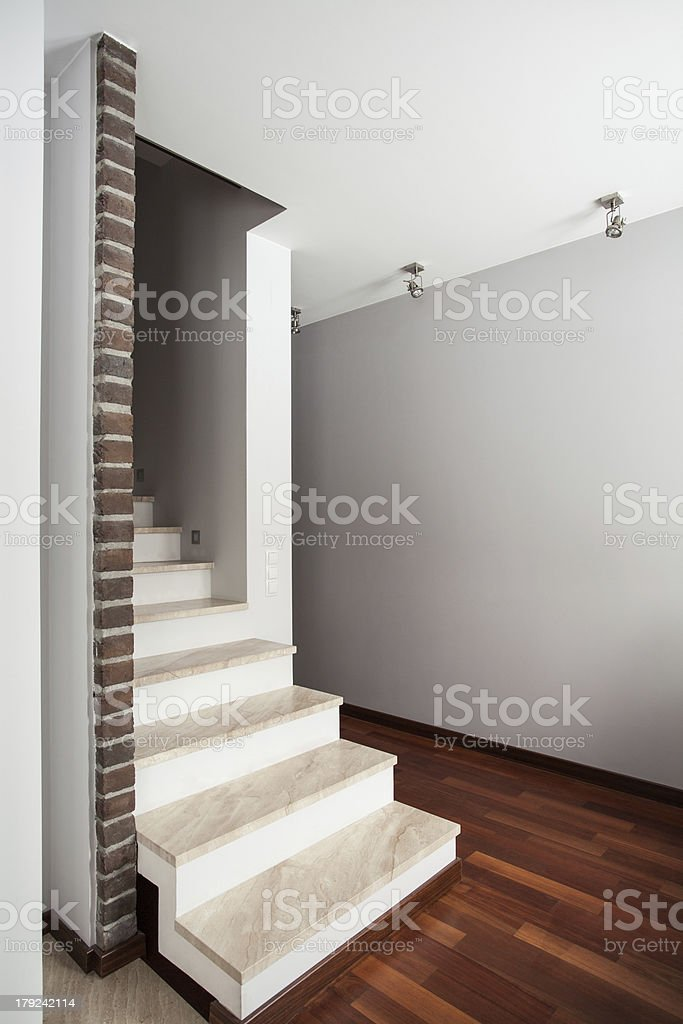 Country home - stairs royalty-free stock photo