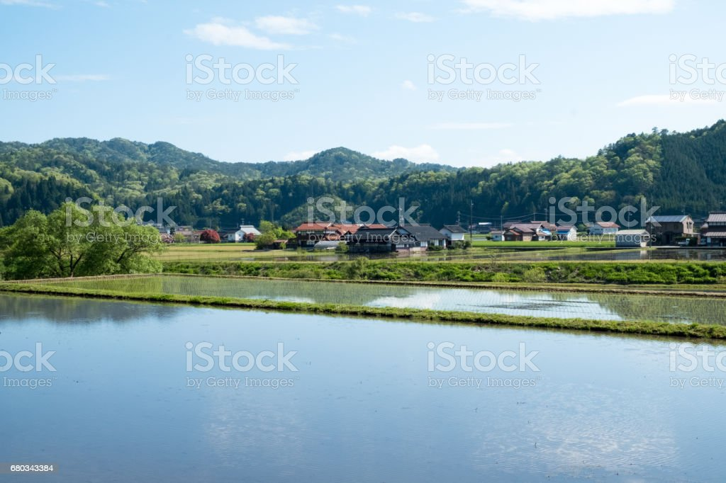Country house in Japan. royalty-free stock photo
