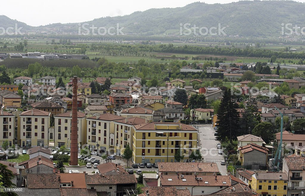country houses in the province of vicenza stock photo