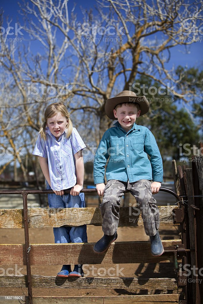 Country Kids stock photo