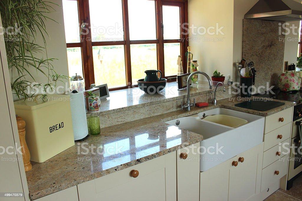 country kitchen granite worktops belfast sink gas range cooker