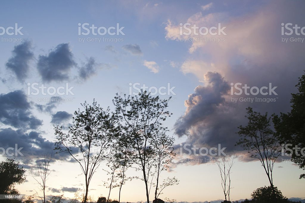 Country landscape at Sunset stock photo