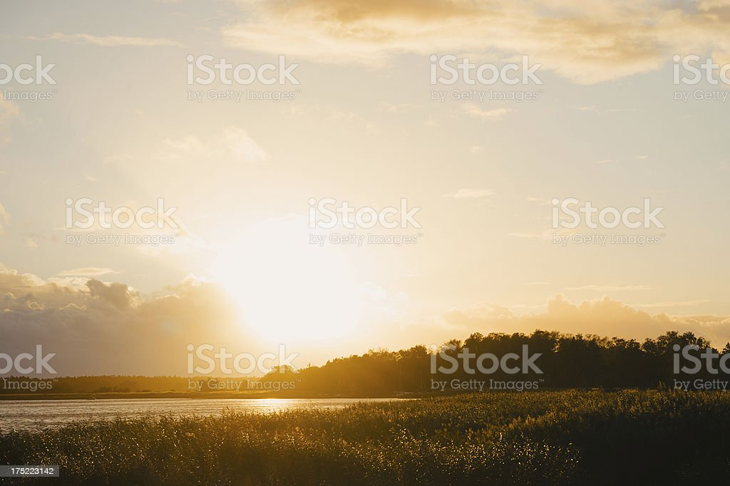 Country Landscape Sunset royalty-free stock photo