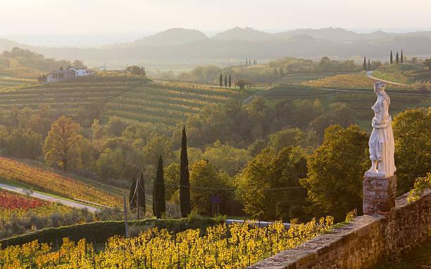 land landschaft von rosazzo abbey - friaul julisch venetien stock-fotos und bilder