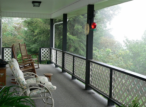Rocker chair porch in the country