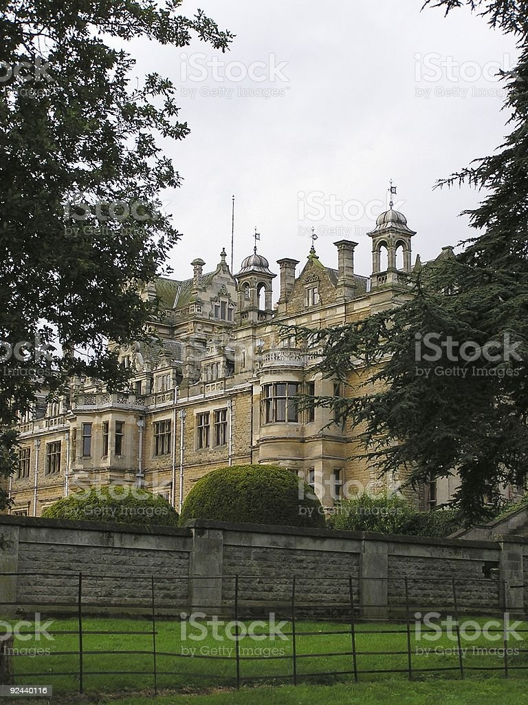 Country manor stock photo
