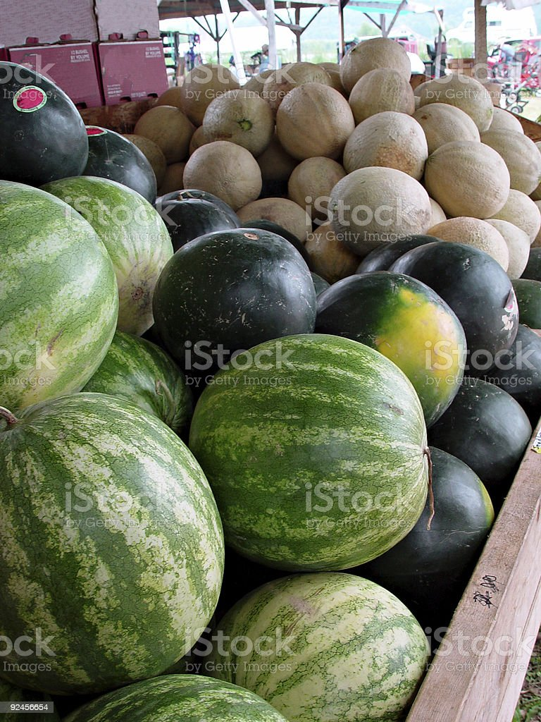 Country Market Vegetables royalty-free stock photo