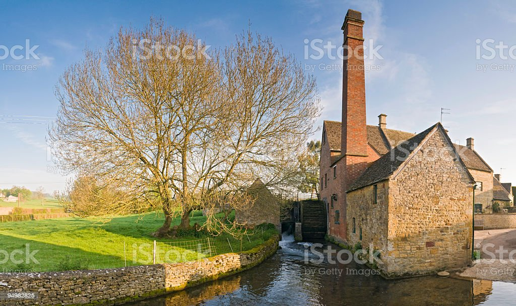 Country mill waterwheel stock photo