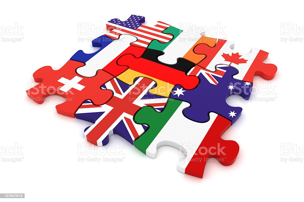 Country Puzzle Concept royalty-free stock photo