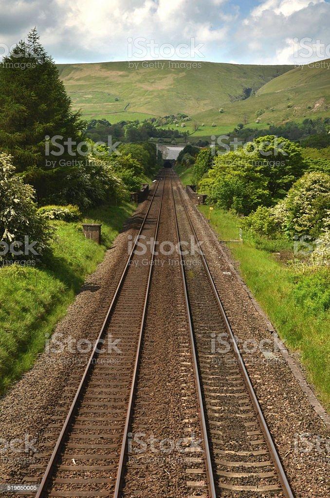 country railway track stock photo