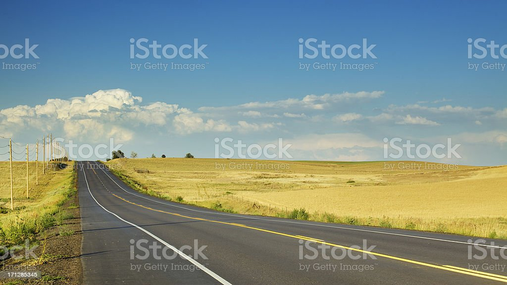 Country Road and Thunderstorm royalty-free stock photo