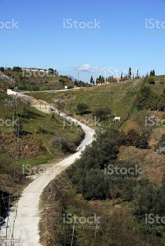 Country road, Andalusia, Spain. royalty-free stock photo