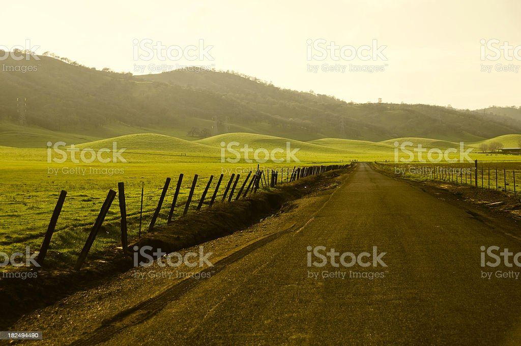Country Road at Dusk royalty-free stock photo
