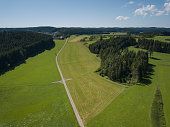 drone point of view, swabian alb in the southern part of germany.