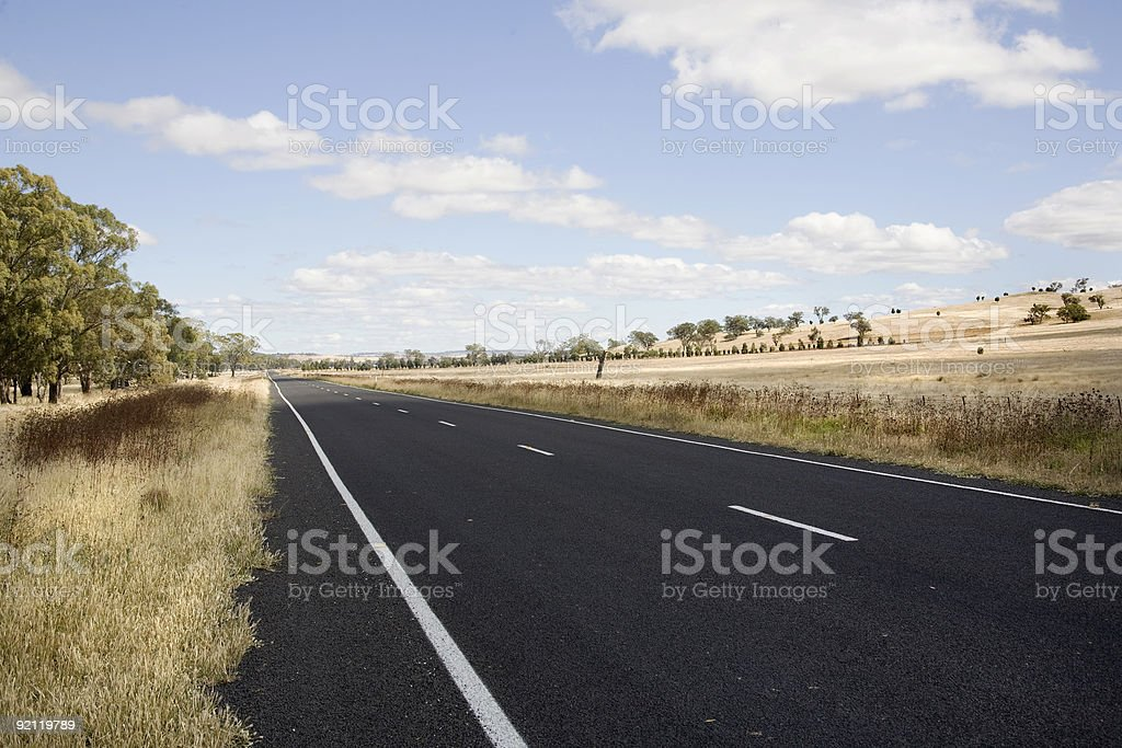 country road australia stock photo