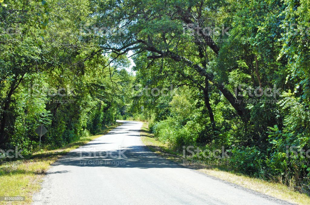 Country Road Crawford Texas stock photo