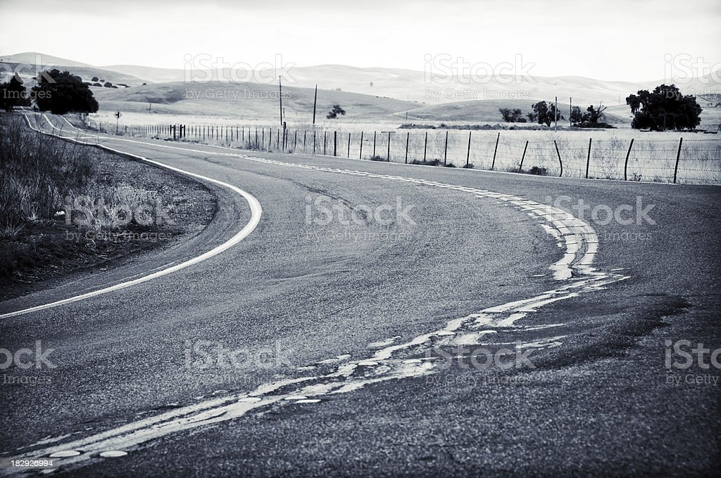 Country Road Curve stock photo