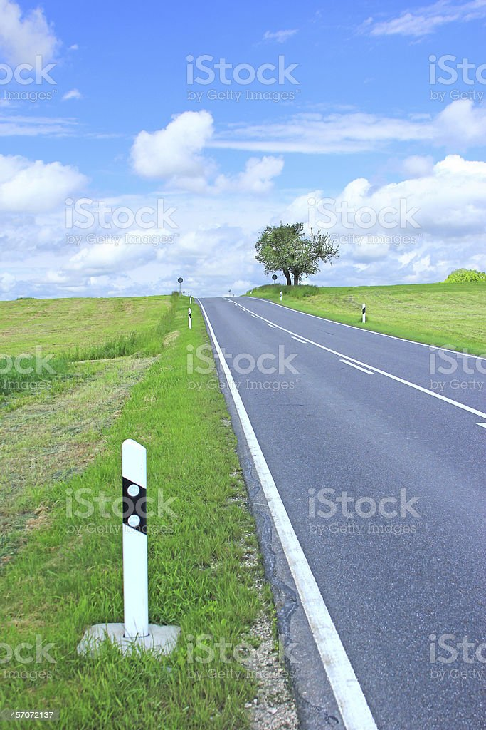 Country road, Germany stock photo