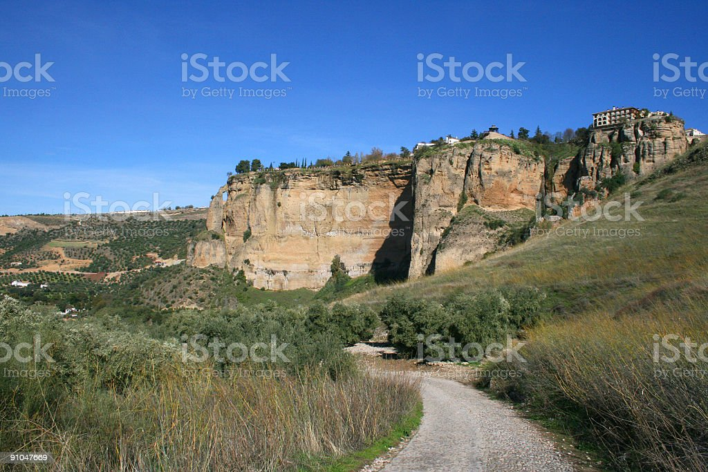 Country road in Andalusia royalty-free stock photo