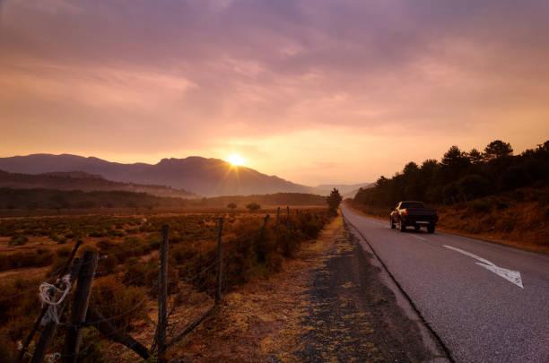 Route de campagne dans la vallée inférieure d'Asco - Photo