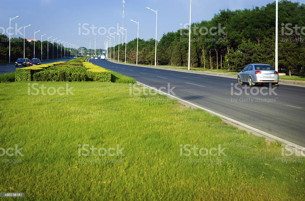 Country Road in Beijing china royalty-free stock photo