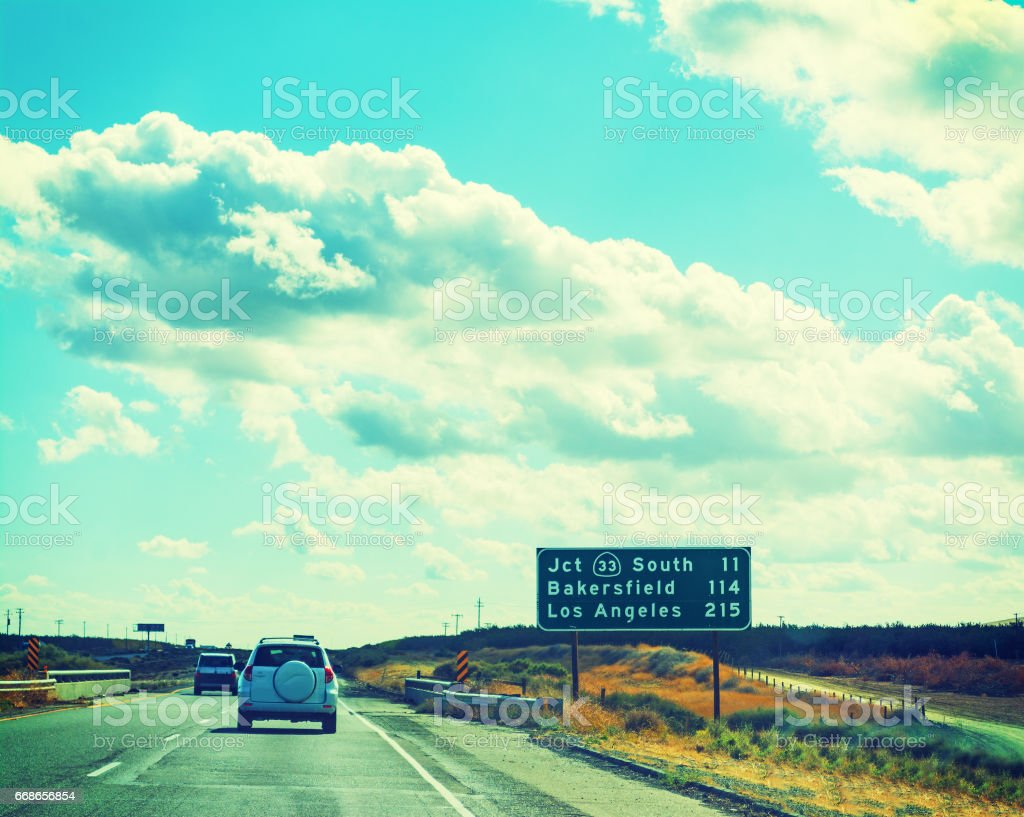 Country road in California stock photo