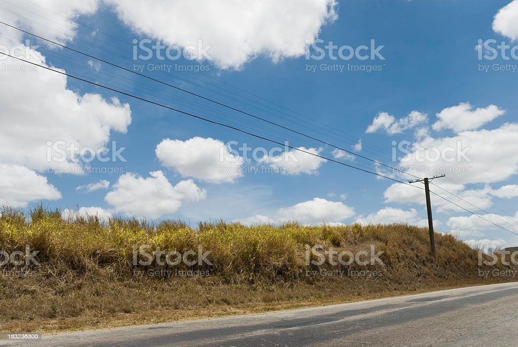 Country Road In Cuba stock photo