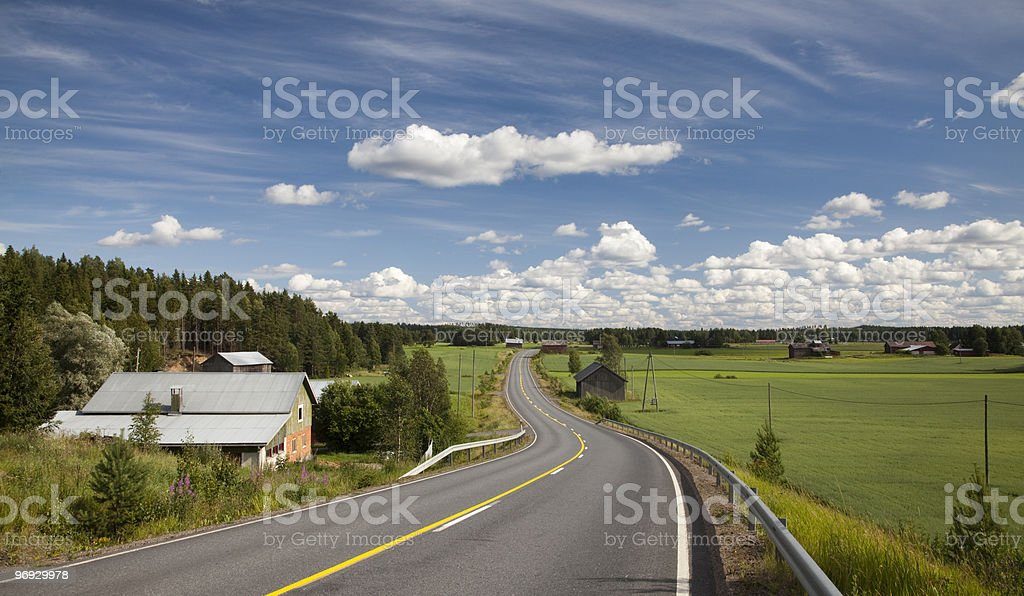 Country Road in Finland royalty-free stock photo