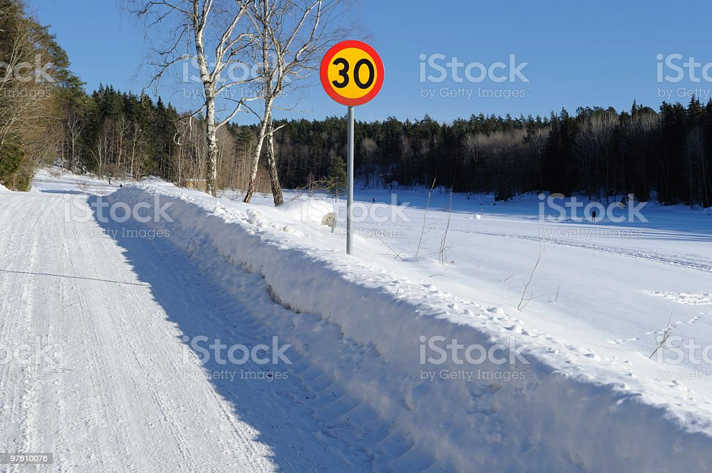 Country road in snow royalty-free stock photo