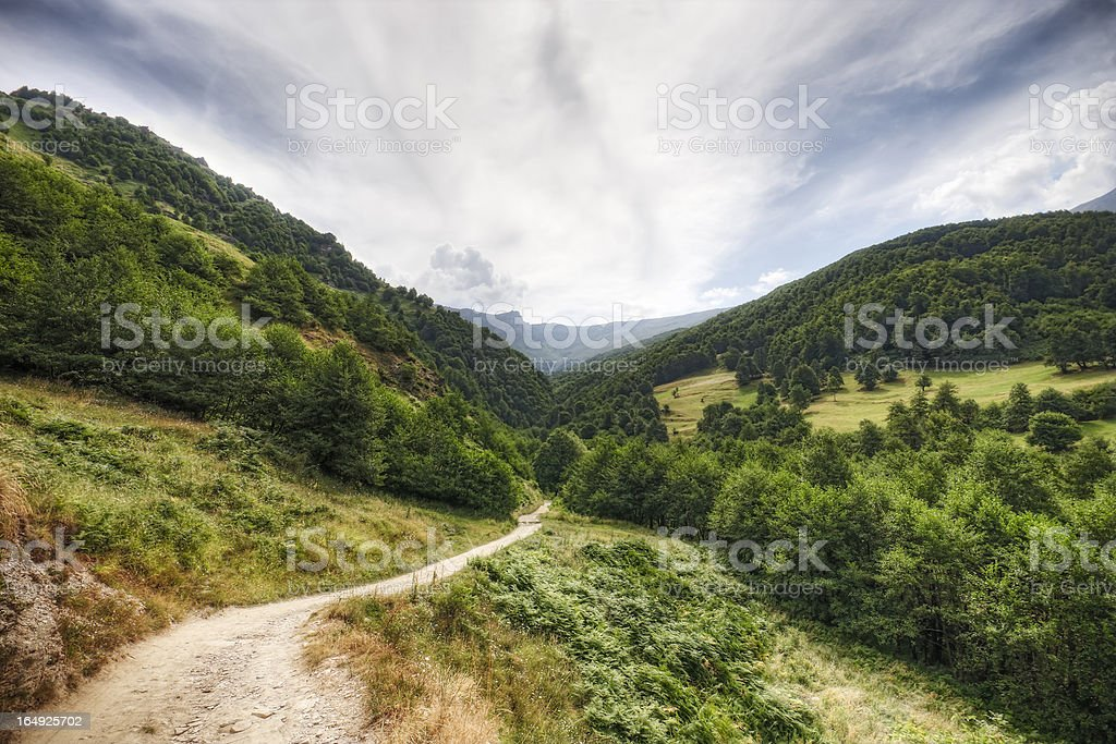 Country Road in the Mountains stock photo